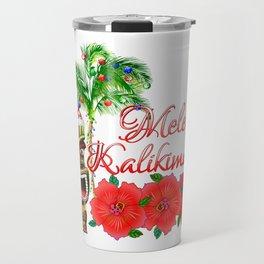 Santa Tiki Mele Kalikimaka Travel Mug