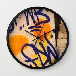 sunset graffitti nyc Wall Clock