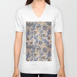 Aged Pomegranate Pattern Unisex V-Neck