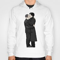 johnlock Hoodies featuring Kissing Sherlock and John by br0-harry