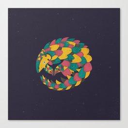Celestial Pangolin Canvas Print