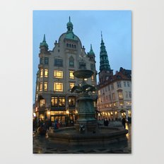 Copenhagen winter dusk Canvas Print
