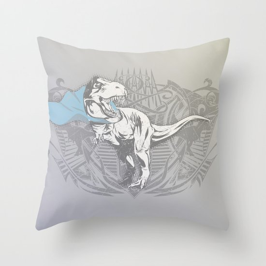 Fearless Creature: Rexy Throw Pillow