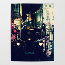 London Night Taxi Poster