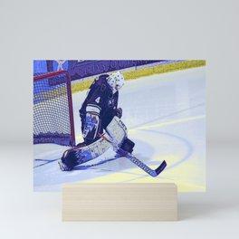 Scraping the Ice - Hockey Goalie Mini Art Print