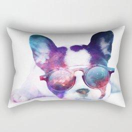 Space Frenchie  Rectangular Pillow