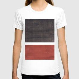 Colorful Bright Minimalist Rothko Color Field Midcentury Modern Brown Black Square Vintage Pop Art T-shirt