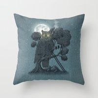 yetiland Throw Pillows featuring Nightwatch by Terry Fan