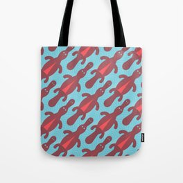 Platypus Convention - blue and coral Tote Bag
