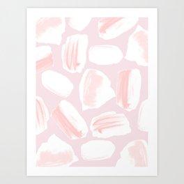 Brushstrokes Pattern Pink Art Print