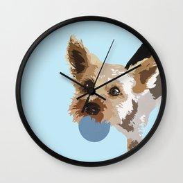 Rex in blue Wall Clock