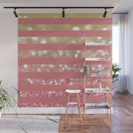 Champagne Tango Stripes Wall Mural