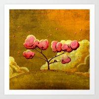 Morning Glory Tree Art Print