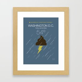 Total Shitstorm Framed Art Print