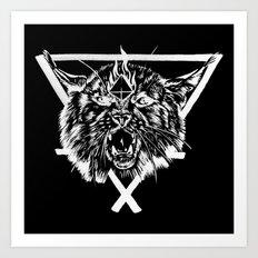 Fire Lynx Art Print