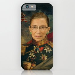 Justice Ruth Bader Ginsburg Classical Regal General Painting iPhone Case