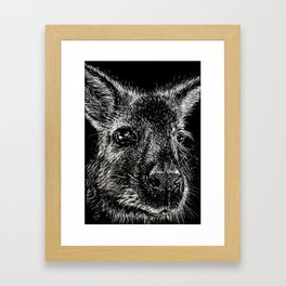 The Wallaby Framed Art Print