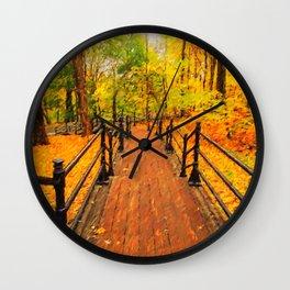 Wooden boardwalk Wall Clock
