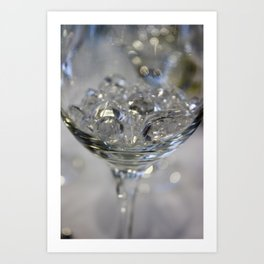 Glass of crystals Art Print