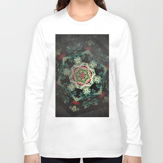 Dark forest mosaic kaleidoscope Long Sleeve T-shirt