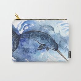 Narwhal Pod Arctic Waters Carry-All Pouch