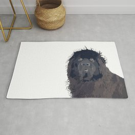 Newfoundland Dog (black) Rug