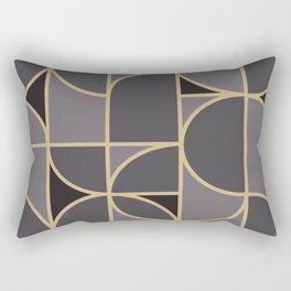 Art Deco Morning Dance In Grey Rectangular Pillow