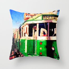 San Francisco F Line Trolly Throw Pillow