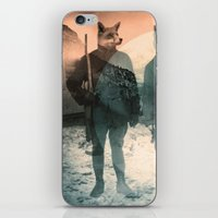 faces iPhone & iPod Skins featuring Fox Hunt by Chase Kunz