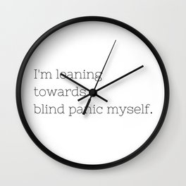 Blind Panic - Buffy, the Vampire Slayer - TV Show Collection Wall Clock