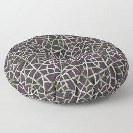 Crackle Magenta Suede Floor Pillow