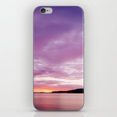 Colorful Sunset Over the Water With Dramatic Sky iPhone & iPod Skin