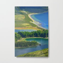 Colorful lake Metal Print