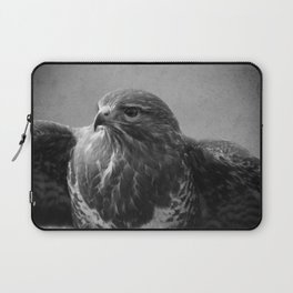Common Buzzard II BW Laptop Sleeve