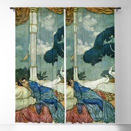 """""""Thinking of Lady Yang"""" by Edmund Dulac Blackout Curtain"""