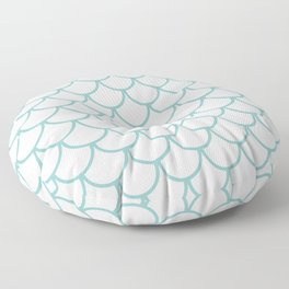 Chalky Blue Fish Scales Pattern Floor Pillow