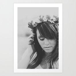 Princesa del Flor Art Print