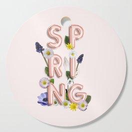Rose Gold Spring Flower Blush Cutting Board