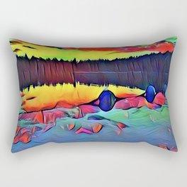 Lights and Colors Rectangular Pillow