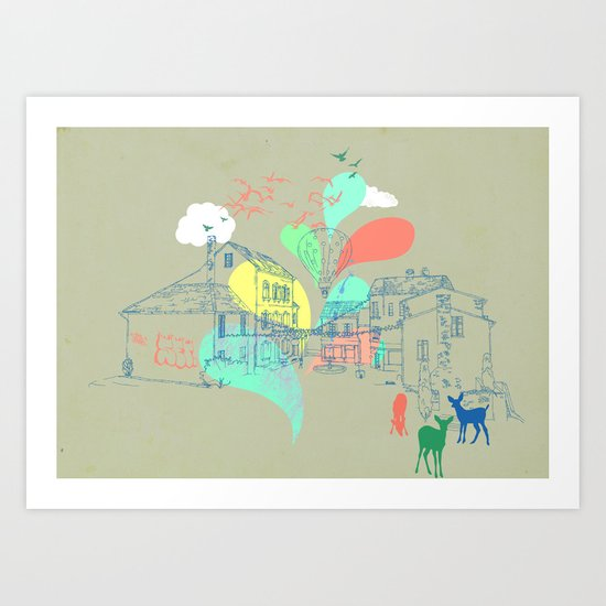 my french village Art Print