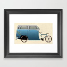 Camper Bike Framed Art Print