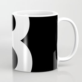 Number 3 (White & Black) Coffee Mug