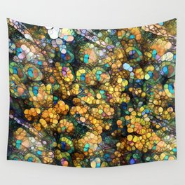 Peacock Rainbow Glitter Wall Tapestry