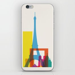 Shapes of Paris. Accurate to scale. iPhone Skin