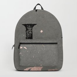 Wild and Free Rose Gold Backpack