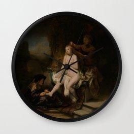 "Rembrandt Harmenszoon van Rijn, ""The Toilet of Bathsheba"", 1643 Wall Clock"