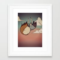skyfall Framed Art Prints featuring SkyFall by Bright Raven Designs