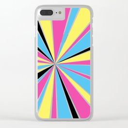 CMYK Star Burst Clear iPhone Case
