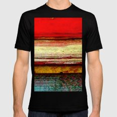 Sunset in Bali Mens Fitted Tee Black MEDIUM