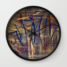 city lights laid out before us Wall Clock